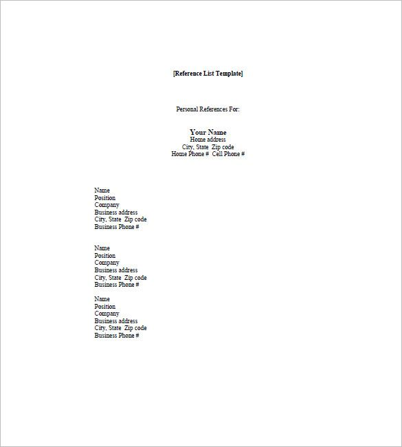 9+ reference list for resume the stuffedolive restaurant