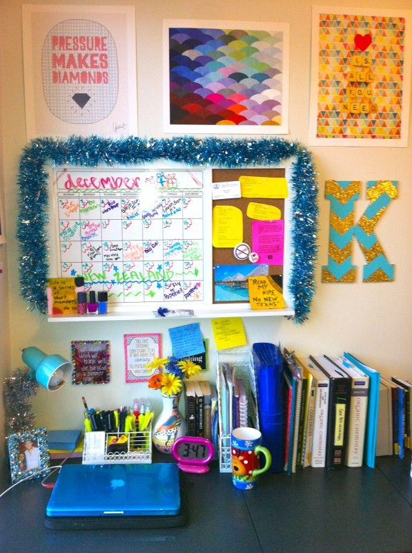 find this pin and more on everything dorm - Dorm Room Desk Ideas