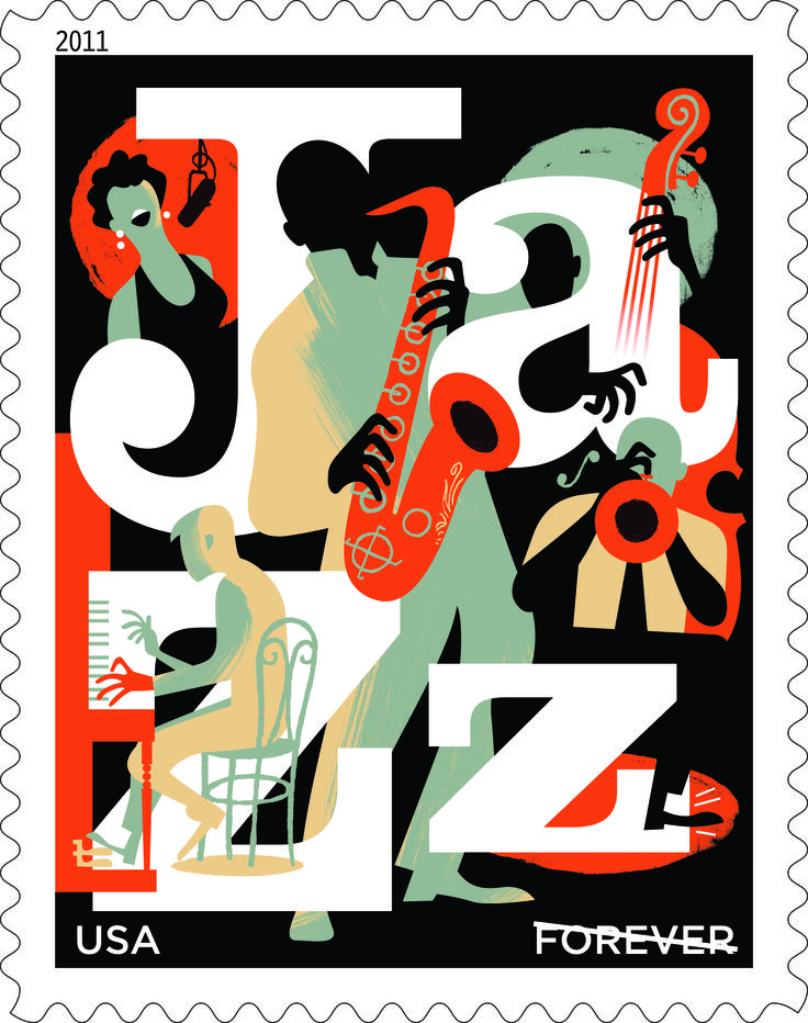 In 2011, USPS proudly paid tribute to jazz, America's musical gift to the world, and to the musicians who play it in studios, clubs, or concert halls, and on festival stages.