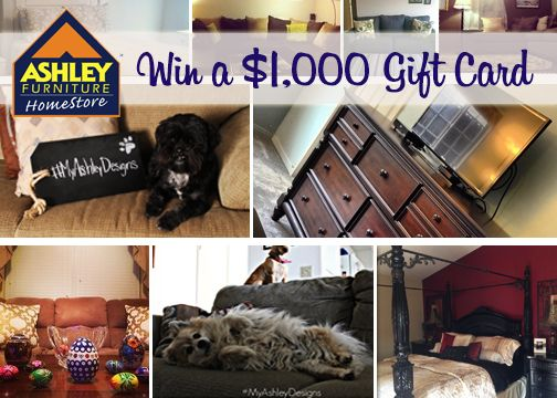 Win A $1,000 Ashley Furniture Homestore Gift Card. 1)Snap A Photo Featuring  Your Ashley Furniture 2)Like Us On Facebook ...