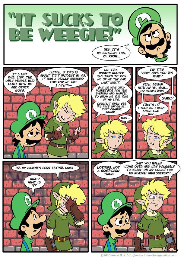 Sucks to be Luigi: Flirting by kevinbolk.deviantart.com on @deviantART