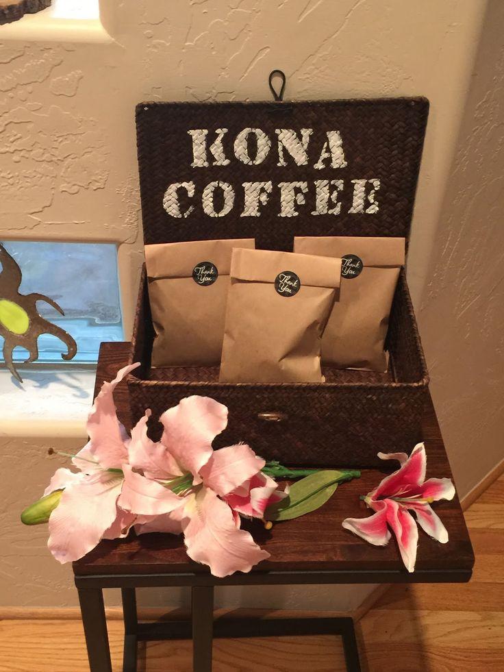 Kona Coffee Favors: Hawaiian Bridal Shower