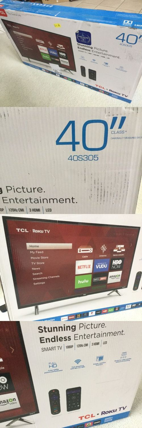 Televisions: Tcl 40-Inch Full Hd 1080P 120Hz Roku Smart Led Tv 3X Hdmi (2017 Model) | 40S305 -> BUY IT NOW ONLY: $229.99 on eBay!