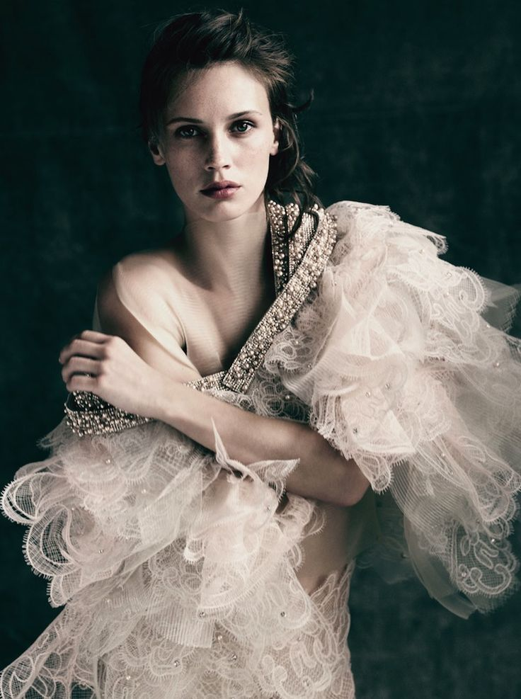 Marine Vacth in Armani Privé by Paolo Roversi.