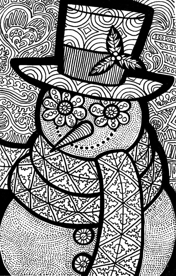 Lines Of The Snowman By Iguruwashi DeviantArt Coloringpage