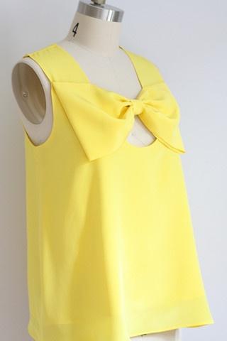 yellowww: Yellow Bows, Beauty Clothing, Bows Bows, Yellow Tops, Bow Tops, Miscellan Clothing, Bows Tops