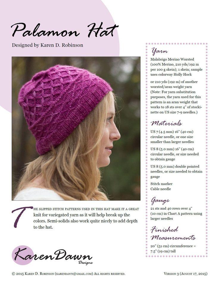Palamon Hat knitting pattern
