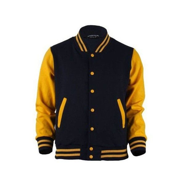 Black And Yellow Baseball Jacket