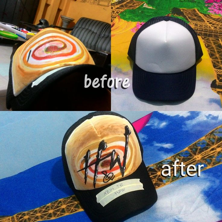 trucker hat painting