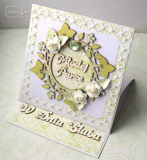 Easel card with Lighthouse chipboards   http://www.hurt.scrap.com.pl/category/tekturki