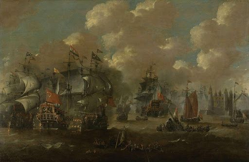 Naval Battle near Elseneur in the Sont between the Dutch and the Swedish Fleets