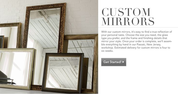 Shop Custom Mirrors | Mirrors | Ethan Allen of Orland Park, IL.