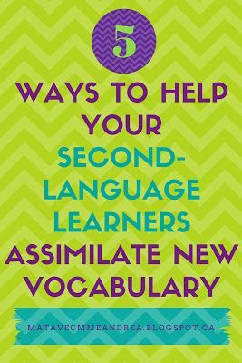 Maternelle avec Mme Andrea: How to help your second-language students assimilate new vocabulary