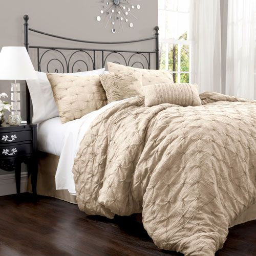 Lake Como Taupe Queen Size Comforter Sets Would Be Cute With Burlap Bedding Skirt