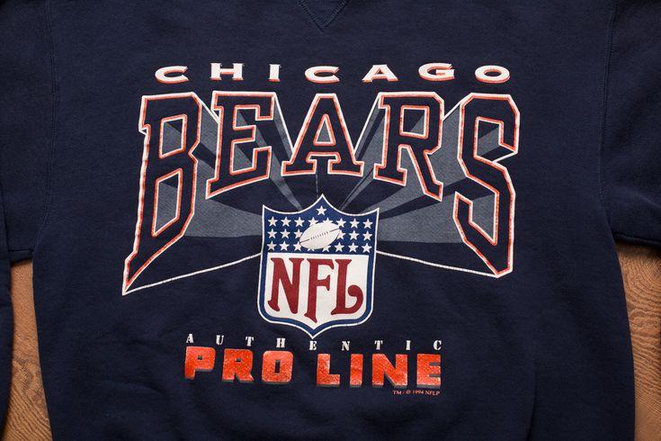 Vintage 90s Chicago Bears 1994 Crewneck Sweatshirt, NFL Pro Line Apparel