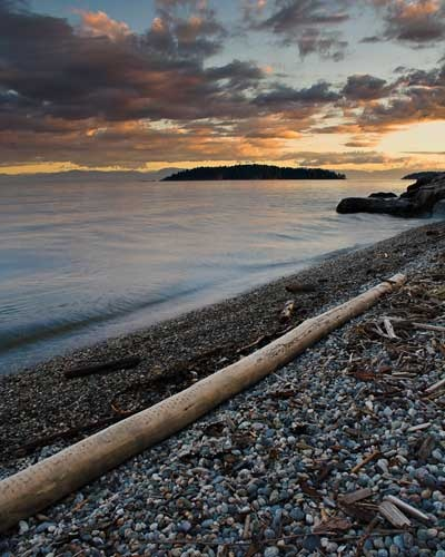 Sechelt beach at Sunset