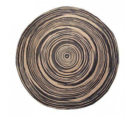 HK-living Jute-Teppich rund, M Ø120cm