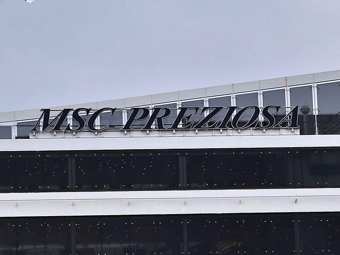 HAMBURG - Details an der MSC PREZIOSA im Hamburger Hafen