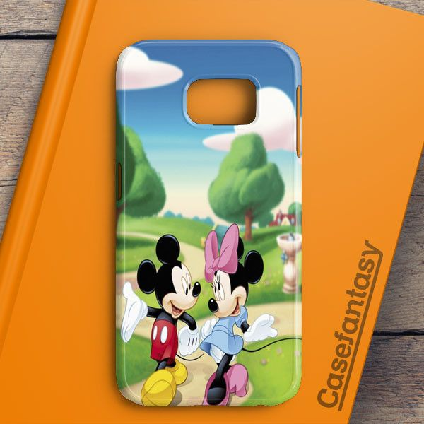 Mickey Mouse And Minnie Mouse Cute Couple Cartoon Samsung Galaxy S6 Edge Case | casefantasy