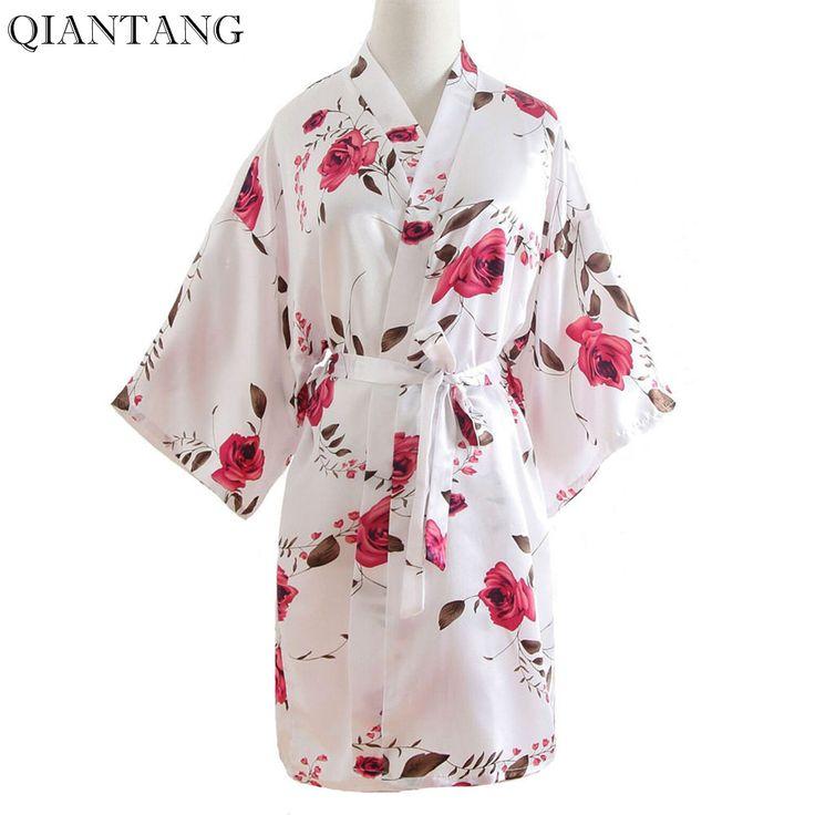 Plus Size Ladies Summer Mini Kimono Short Robe Bath Gown Hot Pink Chinese Women Rayon Yukata Nightgown Pijama Mujer Mdn003. Yesterday's price: US $20.00 (16.43 EUR). Today's price: US $7.20 (5.93 EUR). Discount: 64%.