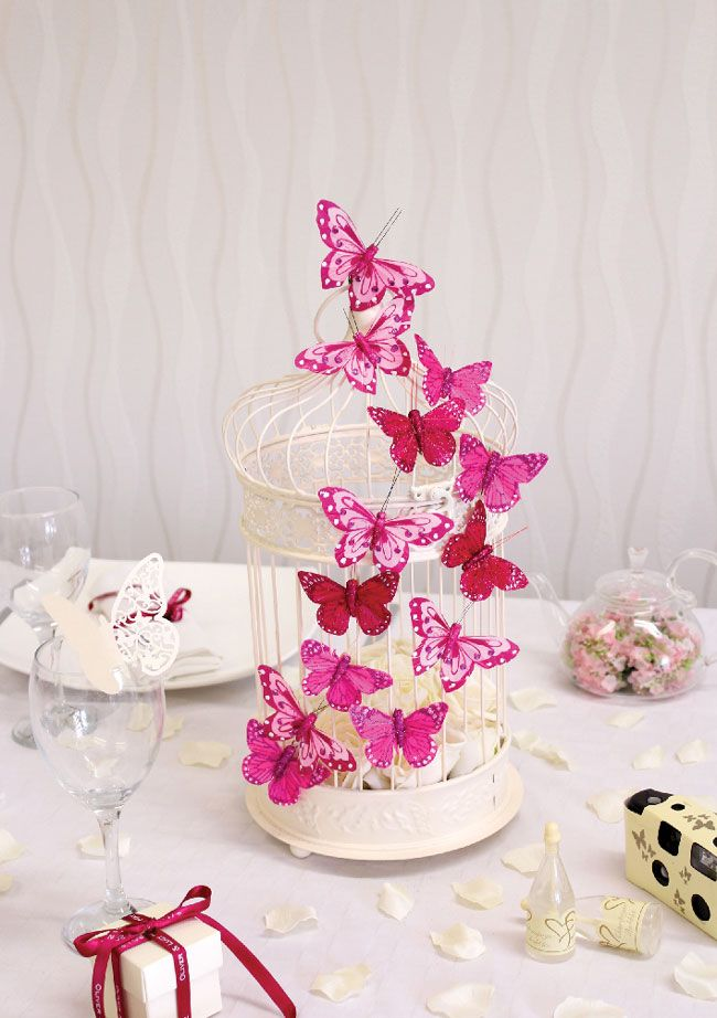 Beautiful Butterfly Detail Center Piece Http Www Weddingideasmag Com Wedding Inspiration