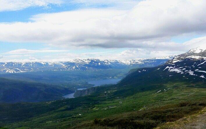 Utsikt over Valdres fra fjellveien over Slettefjell -  ca1300moh