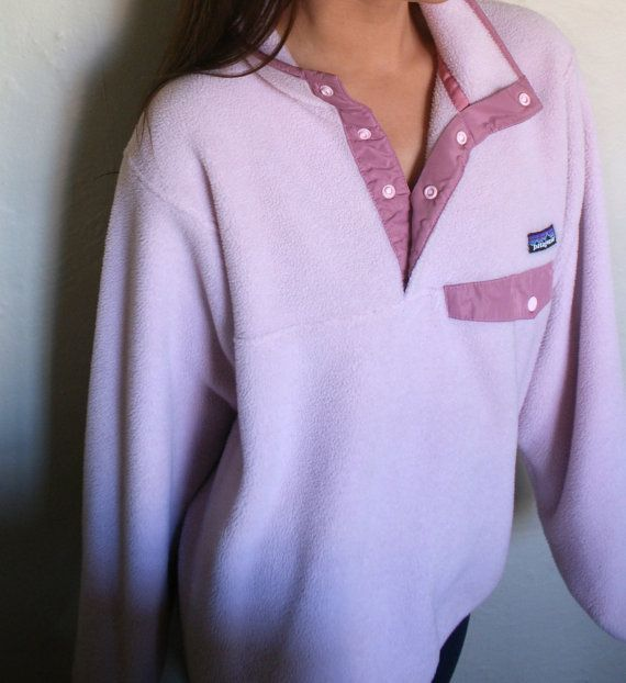 Vintage Pink Patagonia Snap Synchilla Pullover by MollyBrowning93