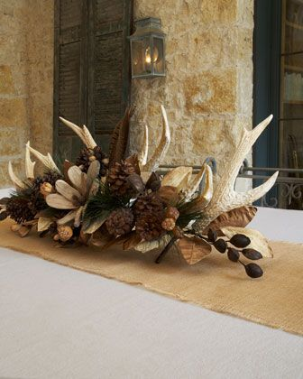 """put antlers together as part of centerpeice 34"""" Natural Centerpiece - Horchow"""
