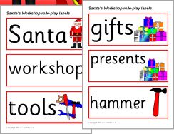 Santa's Workshop role-play pack