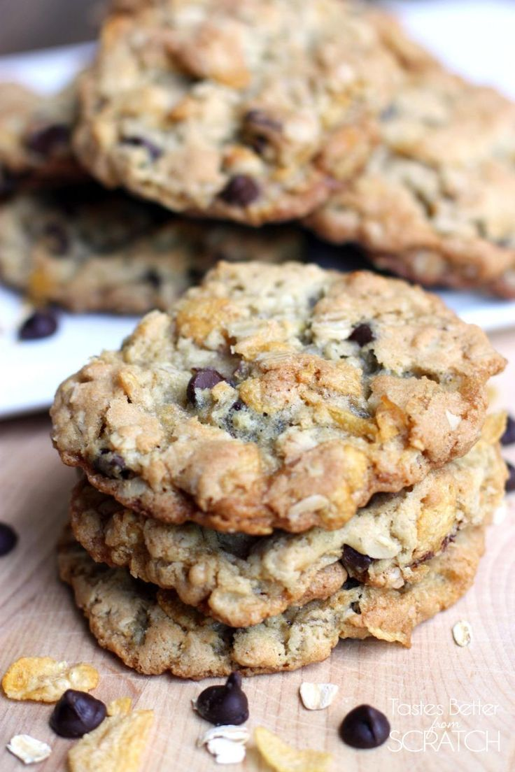 Ranger Cookies -- a chocolate chip cookies with a special added twist! Crunchy on the outside, soft of the inside! On MyRecipeMagic.com