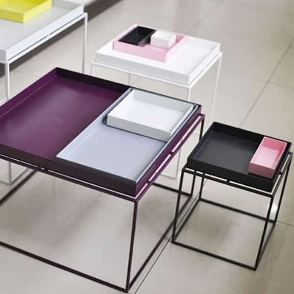 Colorblock tray table. http://www.hipvilla.com/en/storage-and-shelving-systems/583-tray.html