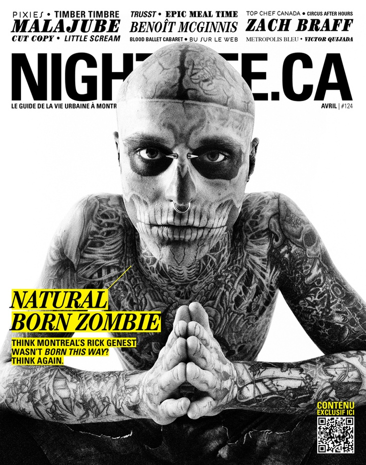 Avril 2011 - Rico the Zombie  http://www.nightlife.ca/arts-culture/page-couverture-du-mois-davril-avec-rico-zombie