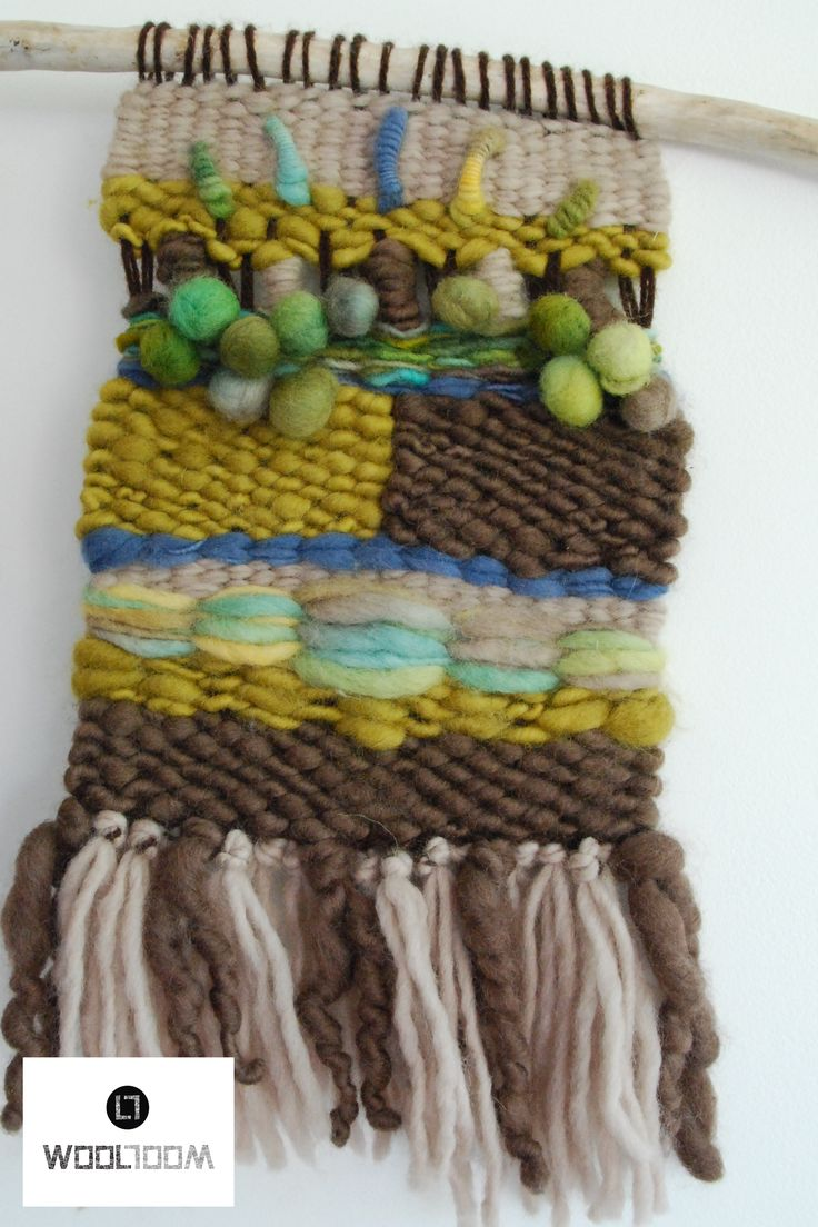 Trio - Hand woven wall hanging // weaving // telar decorativo made by WooL LooM - www.facebook.com/WooLLooM