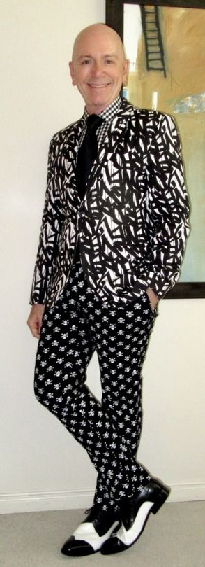 A black & white pattern explosion!  Hugo Boss blazer, Tommy Hilfiger shirt, Burma Bibas tie, Tripp NYC jeans, Stacy Adams two-tone spectators… #HugoBoss #TommyHilfiger #BurmaBibas #TrippNYC #StacyAdams #Toronto #WIWT #sartorial #sartorialsplendour #sprezzatura #dandy #dandystyle #dapper #dapperstyle #menswear #mensweardaily #menshoes #menstyle #mensfashion #fashion #lookbook #apparel #menswear #guyswithstyle #mensfashionpost #gentleman #suits #meninsuits
