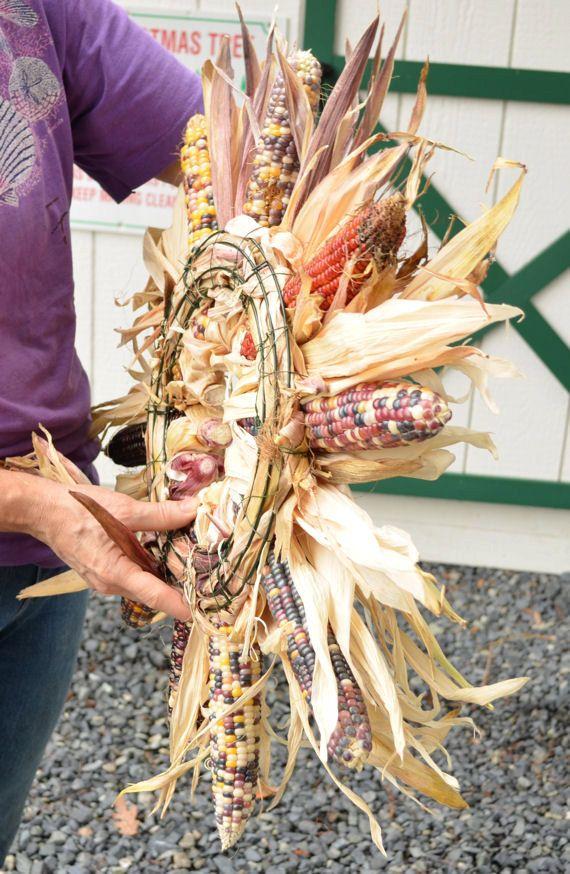 Large Indian Corn Wreath