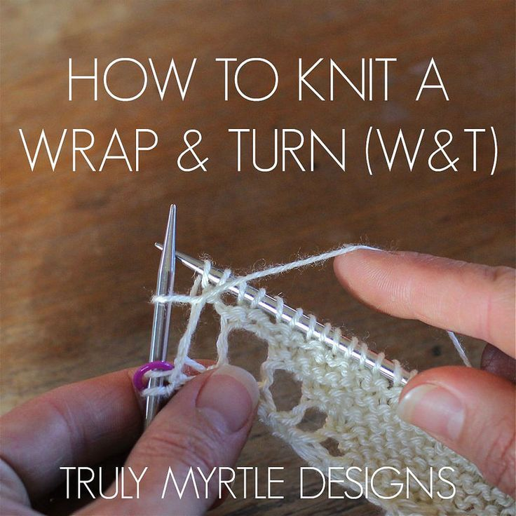 Knitting Wrap And Turn Ribbing : Best knitting short rows images on pinterest
