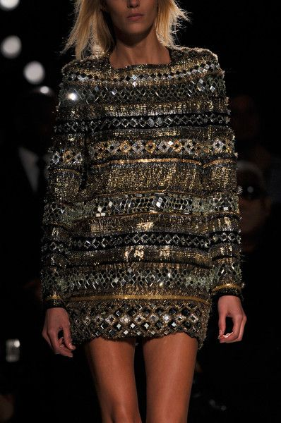 I'd wear this beautiful 2011 Balmain dress to the club or maybe a Grammy or VMA after party