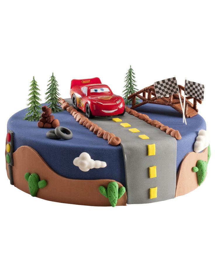 Décorations gâteau #Cars #anniversaire #gateau #voiture