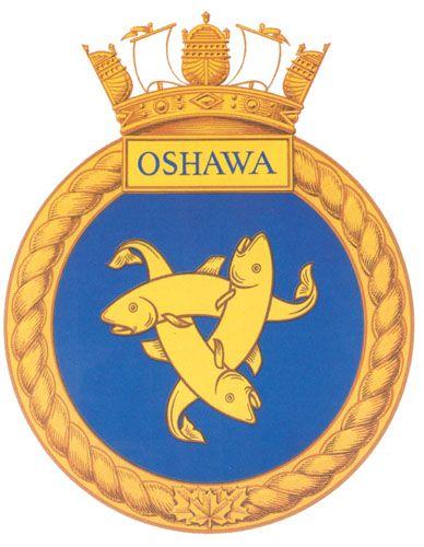 HMCS OSHAWA Badge - The Canadian Navy - ReadyAyeReady.com