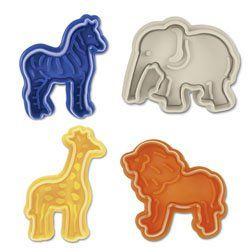Fancy - Animal Cookie Cutters - Cookie Stamp & Cutter Zoo Animals Theme, Set of 4 $12.75 http://fancy.com/things/206618285293179269/Animal-Cookie-Cutters---Cookie-Stamp-%26-Cutter-Zoo-Animals-Theme%2C-Set-of-4-%2412.75