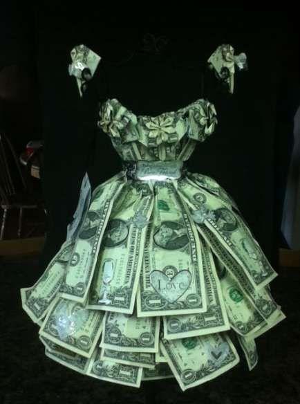 43 Trendy Ideas Origami Wedding Dress Money Dollar Bills