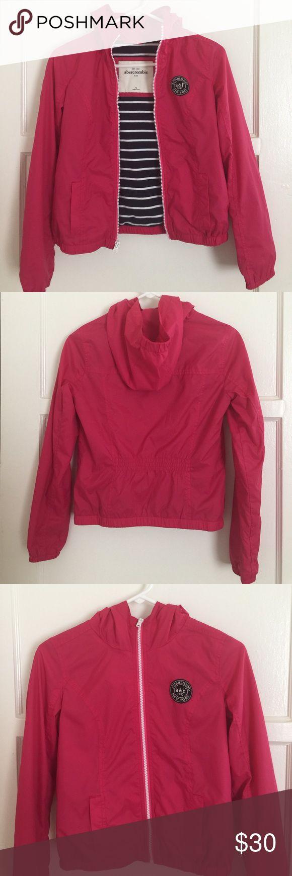 ❗️PRICE DROP❗️abercrombie kids jacket Slightly worn abercrombie wind breaker jacket for girls.  Inside lining is cotton.  Kept in excellent condition.  Very clean, damage & odor free! abercrombie kids Jackets & Coats
