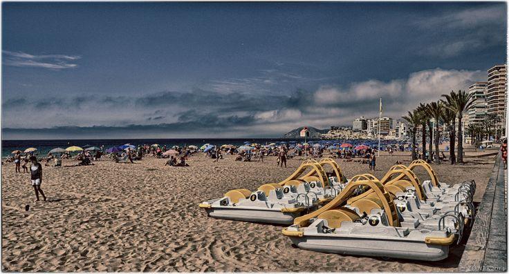 Water bikes, Benidorm 2014