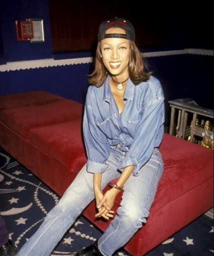 90s Tyra (Jean on Jean, backwards cap, 90's fashion essentials)
