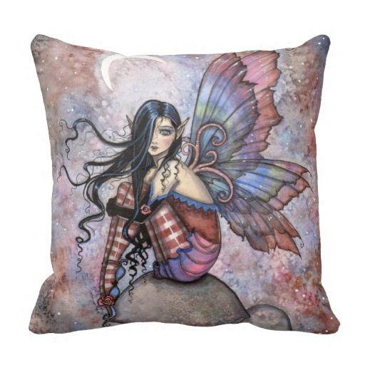 Isobel the Introvert Fairy Fantasy Art Pillows