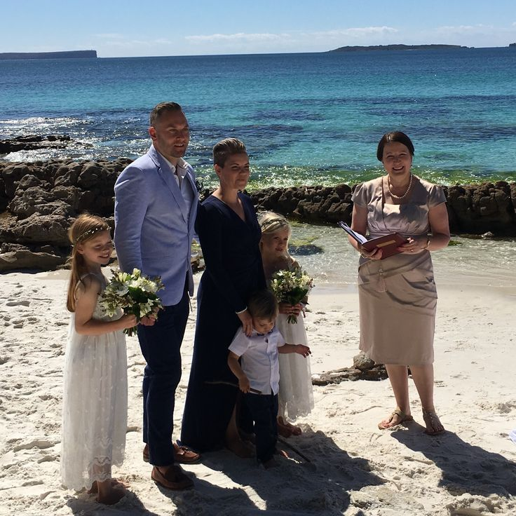 This renewal of vows ceremony was at Hyams beach, NSW. This intimate ceremony with this couple, celebrated 10 years of marriage. The couples 3 adorable children were involved in the sand ceremony and signing the certificate, such special moments.
