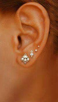 Lots of tiny earrings