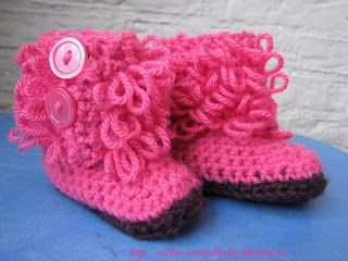 Loopy baby boots / Gehaakte babyslofjes - de reden dat ik heb leren haken