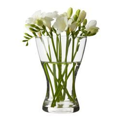 VASEN Vase, clear glass - IKEA