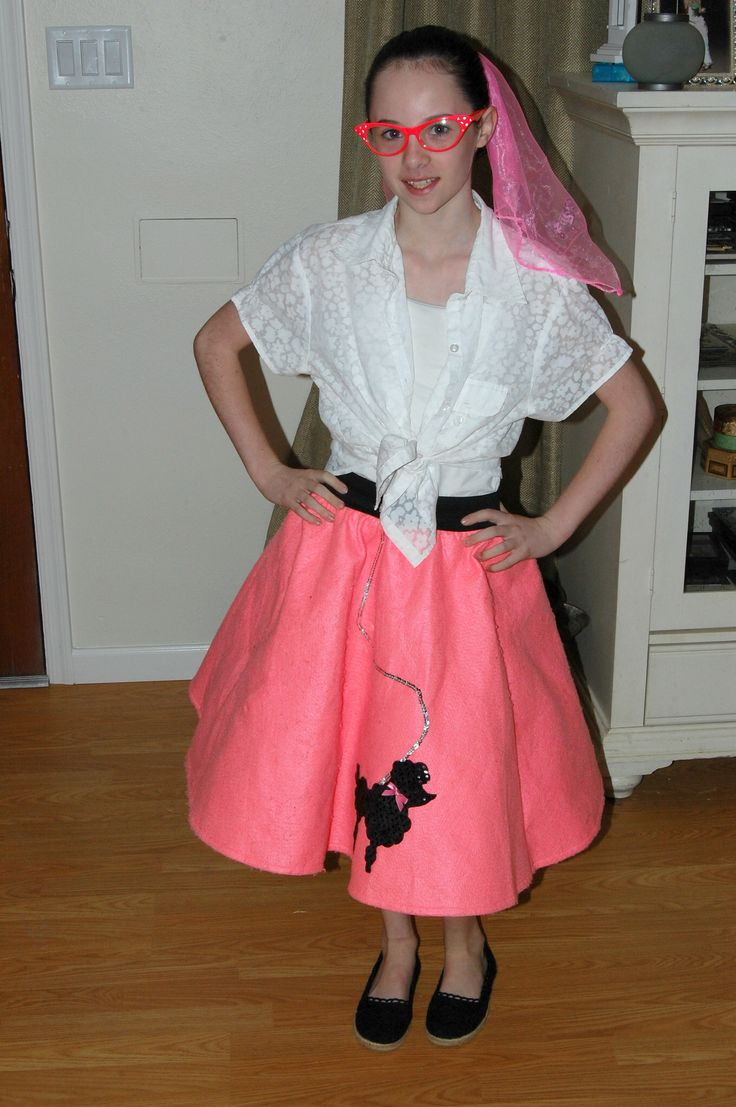 """""""Back to the Furture Day"""" for spirit week, Megan dressed as a 50's girl"""